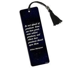 Shakespeare Be Not Afraid of Greatness Printed Bookmark with Tassel