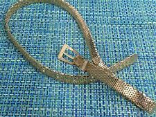 "VINTAGE WOMENS GOLD METAL MESH BELT 36"" LONG"
