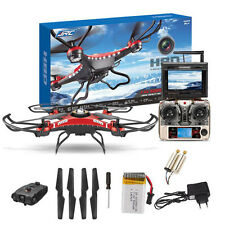 JJRC H8D 6-Axis Gyro RC Drone Quadcopter HD Camera With Monitor + 2pc Motor Xmas