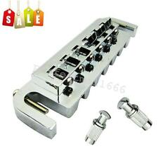Chrome Plated Roller Saddle Tune-O-Matic Bridge Tailpiece for Les Paul LP Guitar