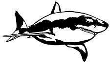 GREAT WHITE SHARK Vinyl Decal Sticker Car Window Wall Bumper Jaws Fish Animal