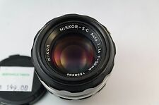Nikon Nikkor-S-C Auto 1:1.4 f=50mm S/N 1538506 Non AI PLEASE READ FIRST Manual