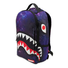 Brand New SPRAYGROUND Galaxy Glow in the Dark Shark Deluxe Bag Backpack