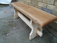 WOODEN/CHUNKY RUSTIC SOLID PINE/OAK  BENCH FARMHOUSE