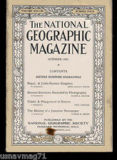 National Geographic, Oct 1920, Nepal, Tahiti, Making of a Japanese Newspaper