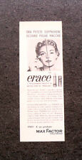 L830- Advertising Pubblicità -1960- ERACE MAX FACTOR , PRIMA DEL MAQUILLAGE