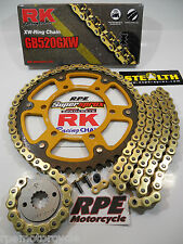 HONDA CBR1000rr '08-15 SUPERSPROX 520 RK GXW QUICK ACCEL CHAIN AND SPROCKETS KIT