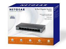 NETGEAR GS308-100UKS 8 Port Gigabit Ethernet 10/100/1000 Mbps Switch BRAND NEW