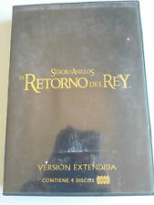 EL SEÑOR DE LOS ANILLOS EL RETORNO DEL REY VERSION EXTENDIDA 4 DVD ESPAÑOL ENGL