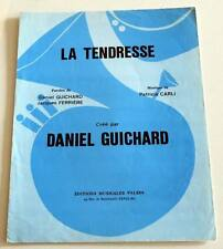 Partition sheet music DANIEL GUICHARD : La Tendresse * 70's Patricia CARLI