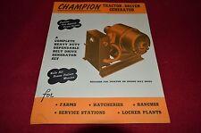 Champion Tractor Driven Generator Dealer's Brochure LCPA3