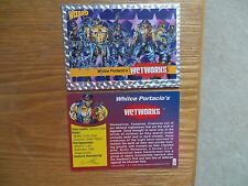 1992 WIZARD MAGAZINE WETWORKS PROMO CARD #8 SIGNED, WHILCE PORTACIO, WITH POA