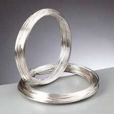 0.6 mm (22 gauge) Silver Plated Craft / Jewellery / Florist Wire 10 metres 10m