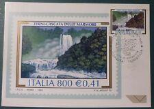 MAXI CARD -  FDC - TERNI - CASCATA MARMORE - 1999