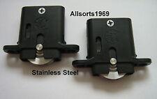 Sliding security screen door rollers / wheels stainless steel * 1 Pair *