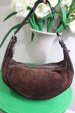 Etro Milano brown leather geometric hobo shoulder  with side zipper #15809(p900)