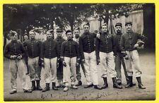 cpa CARTE PHOTO SAINT ETIENNE 38e Régiment en 1908 Militaires Caserne Uniformes