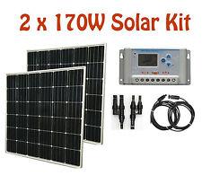 340W / 2 x 170W solar Panel Kit panneau solaire charge controller régulateur RV