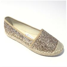 Gold Glitter Espadrilles Women Shoes Women's Footwear Women's Beach Shoes