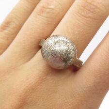 Vtg 925 Sterling Silver Unique Wide Handmade Modernist Ring Size 6 3/4