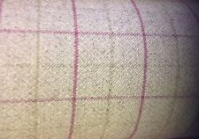 Porter+Stone Tartan Plaid Check BAMBURGH Wool Effect Upholstery/Curtain Fabric
