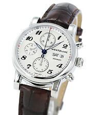 Montblanc  Star Chronograph Automatic 106466 Men's Brown Leather Watch - New