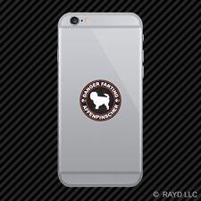 Danger Farting Affenpinscher Cell Phone Sticker Mobile Die Cut