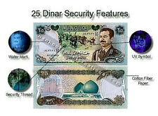 MINT IRAQ SADDAM HUSSEIN 25 DINAR MONEY 1986 CERTIFIED UNC P 73