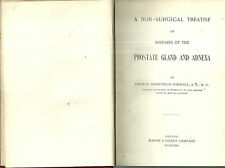 Non-Surgical Treatise Diseases of the Prostate Gland and Adnexa 1903 Medical