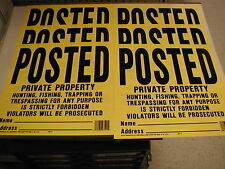 Posted Legal Plastic Signs - Private Property - Weatherproof Durable Plastic (6)