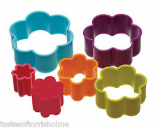 Colourworks by Kitchen Craft Set of 6 Flower Biscuit Pastry Cookie Cutters & Tub
