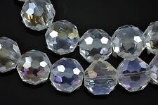 22x 14mm Faceted Octagon Cut Glass Crystal Beads Pick Your Colour