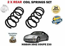 FOR NISSAN 350Z Z33 COUPE 3.5 2002--  NEW 2 X REAR LEFT RIGHT COIL SPRINGS SET