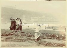 Beach Scene, Scarborough Yorkshire. Superb c.1900 Photograph.