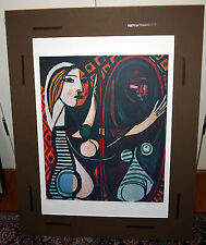 PICASSO RARE LITHO  GIRL BEFORE A MIRROR   W/STAMP,HAND SIGNED & CERT#385/500