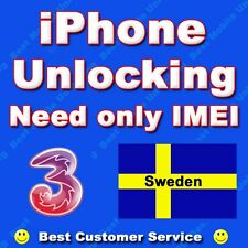 Unlock Service for Hutchison Three Sweden iPhone 5S 5C 5 4S 4 - All IMEI - 100%