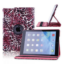 For Apple iPad Air 2 Smart Cover Leather 360 Rotating Magnetic Case Stand Pink