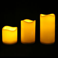 3pcs Colorful  LED Flameless Candles Light with Remote Control New