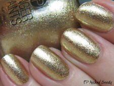 NEW FingerPaints Nail Color MASKED BEAUTY - Finger Paints polish GOLD SHIMMER