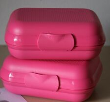 Tupperware Small Packables Case Oyster Shell Style Pink Punch NEW