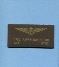 PAPPY BOYINGTON VMF-214 BLACKSHEEP WW2 USMC F4U CORSAIR Squadron Name Tag Patch