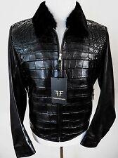 $29340 FREDO FERRUCCI Crocodile Alligator Leather Mink Fur Jacket Size Medium