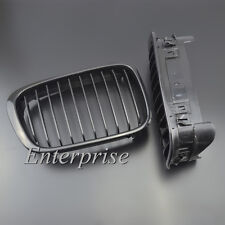 For BMW 5 Series E39 1997-2003 Black Matte Front Hood Kidney Grills Grille Cover