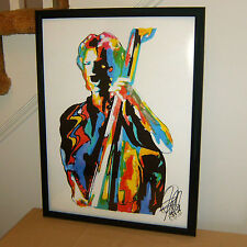 Sting, The Police, Singer, Vocals, Bass Guitar Player, Rock Bassist POSTER w/COA