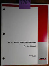 Case MD72 MD82 MD92 Disc Mower Service Manual 84207378 5/09