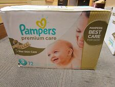 Pampers Premium Care Disposable Diapers PACK 72 Count All Size NEW