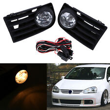 1 Pair Fog Light Lamps Grille For 04-10 VW Jetta / Bora / Golf Mk5 06-09 VW Gti