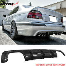 1996-2003 BMW E39 5 Series M5 Only E Style Rear Bumper Lip Diffuser Carbon Fiber
