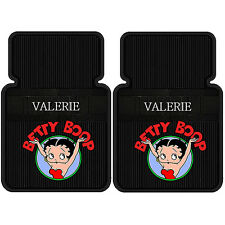 2PC BETTY BOOP PERSONALIZED CAR FLOOR MATS RARE NEW