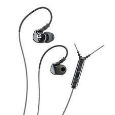 MEE audio M6P Memory Wire Over-the-Ear Sports In-Ear Earphones with Mic (Black)